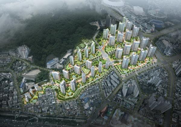 ▲'레이카운티' 아파트 조감도. (자료 제공=삼성물산)