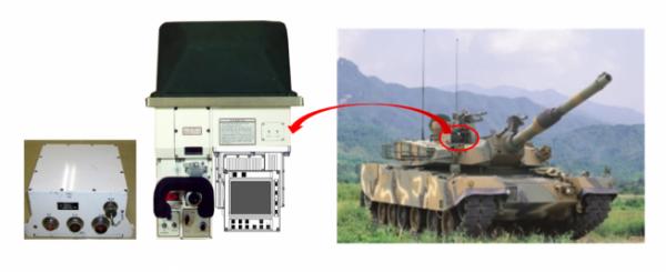 ▲한화시스템이 기술 변경에 성공한 'K1A1전차 포수 조준경(KGPSⅡ형)'  (사진제공=한화시스템)