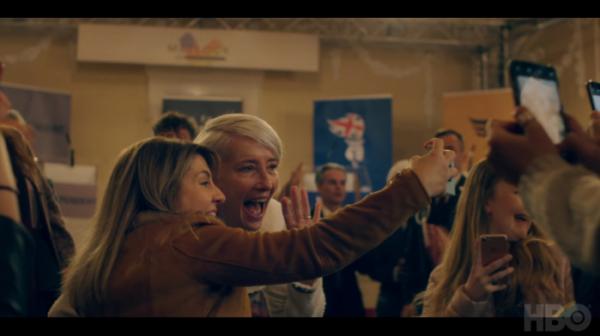 ▲극중 포퓰리즘 정치인 '비비언 룩'은 지금의 도널드 트럼프 대통령을 연상시킨다. (출처=HBO 유튜브 캡처)