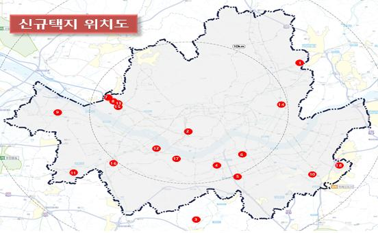 ▲정부가 '8.4 공급 대책'에서 밝힌 신규 공급 택지 위치도. (국토교통부)