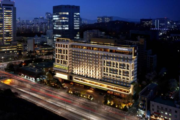 ▲쉐라톤 서울 팔래스 강남 호텔 전경