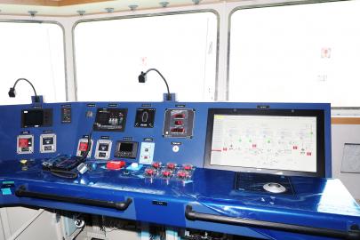 ▲HMM 상트페테르부르크호의 브릿지(선박 조종 공간).  (사진제공=HMM)