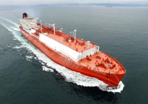 ▲ 현대중공업이 건조한 LNG선의 시운전 모습.  (사진제공=한국조선해양)