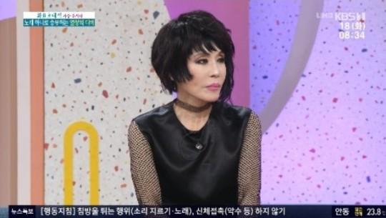 ▲'아침마당'에 출연한 윤시내 (출처=KBS1 방송화면 캡처)