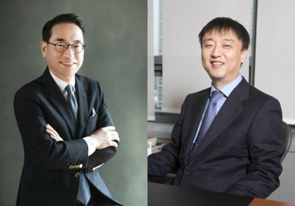 ▲(왼쪽부터) 홍원표 삼성SDS 대표, 이준호 NHN 회장 (삼성SDS)