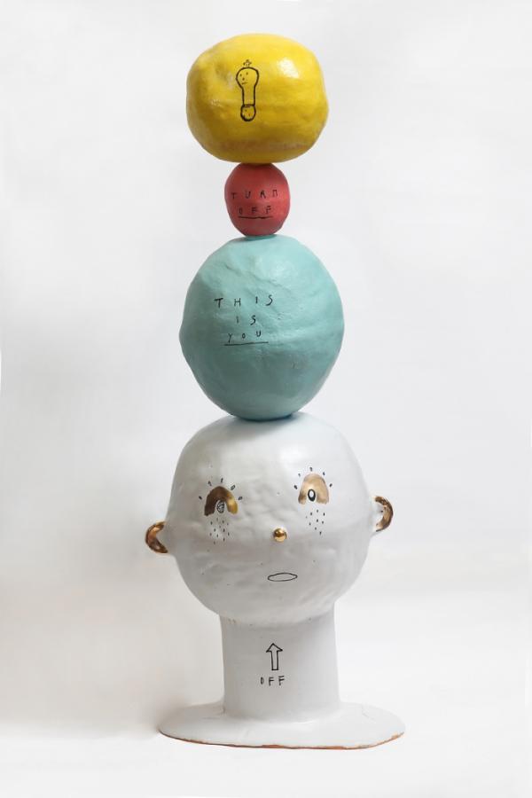 ▲갑빠오, Fit for life, 2020, color on ceramic, 24x17x70(h)cm. (사진제공=아뜰리에 아키)