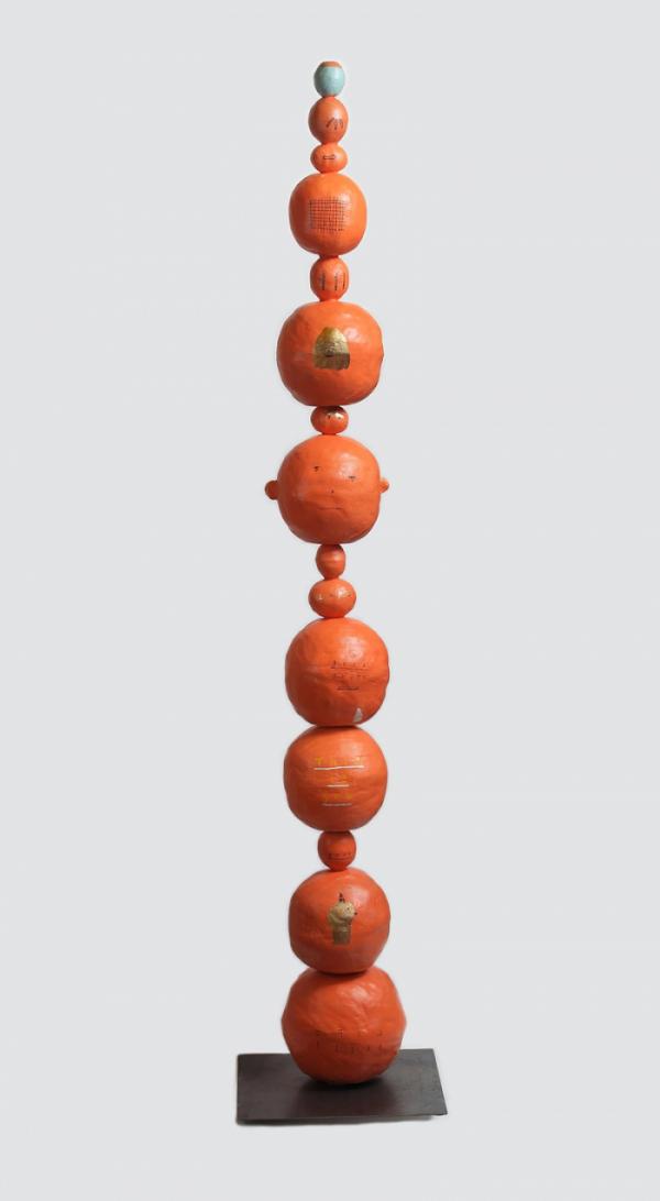 ▲갑빠오, HOOKUP-1, 2020, color on ceramic, 35x35x175(h)cm. (사진제공=아뜰리에 아키)