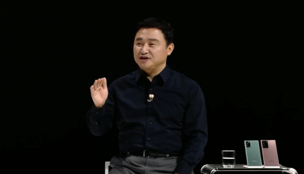 ▲삼성전자 무선사업부장 노태문 사장. (언팩 행사 캡쳐)