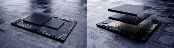 ▲삼성전자가 최첨단 EUV 시스템반도체에 3차원 적층 기술 업계최초 적용했다. (왼쪽) : 기존 시스템반도체의 평면 설계(오른쪽) : 삼성전자의 3차원 적층 기술 'X-Cube'를 적용한 시스템반도체의 설계 (사진제공=삼성전자)