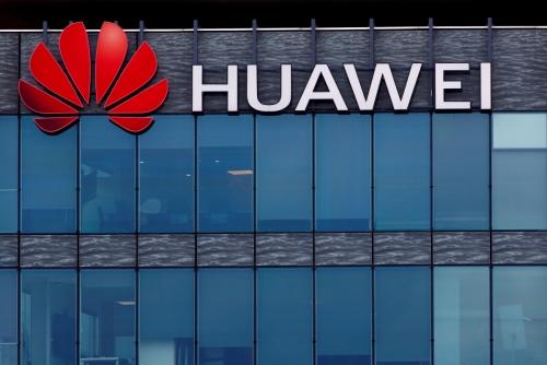 ▲중국 통신장비업체 화웨이테크놀로지 로고. 로이터연합뉴스