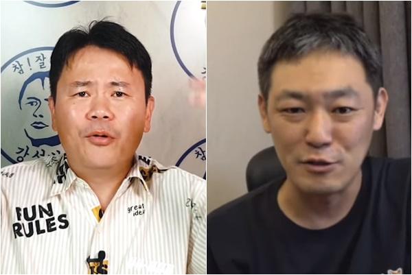 ▲강성범(왼) 김용호 (출처=강성범, 김용호 유튜브 채널 캡처)