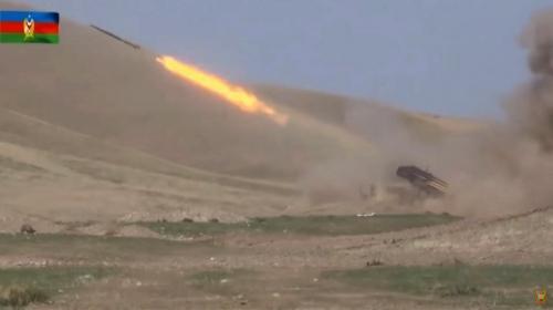 ▲아제르바이잔과 아르메니아가 28일(현지시간) 분쟁 지역인 '나고르노-카라바흐'에서 이틀째 교전을 벌이고 있다.  EPA연합뉴스