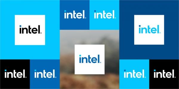 ▲인텔의 새 로고. 사진제공 인텔