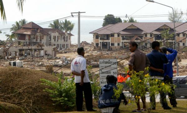 ▲2004년 당시 태국에서 쓰나미 피해를 가장 크게 입은 푸껫 인근 까오락 해변 리조트. 이곳은 영화 '더 임파서블'의 배경이 됐다. (연합뉴스)