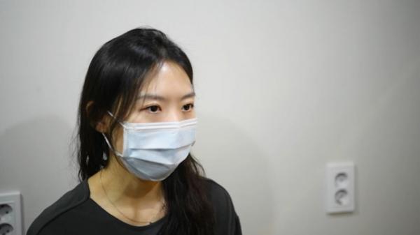 ▲김수련 간호사는 간호사에 대한 단편적인 시선을 거두고 노동 문제와 처우개선에 관심을 가져달라 강조했다. (정윤혜 인턴 yunhye0318@)