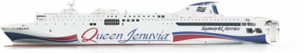 ▲연안여객선 현대화펀드 4호 지원선박인 '퀸 제누비아호' (해양수산부)