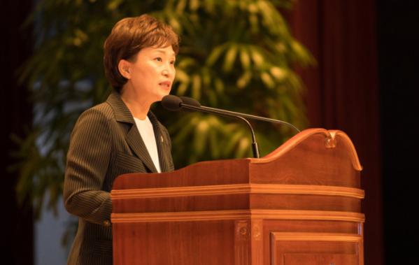 ▲2017년 김현미 국토교통부 장관 취임식. (사진 제공=국토교통부)