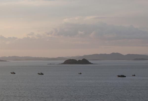 ▲소연평도 인근 해상에서 실종된 민간인이 북한의 총을 맞고 사망한 가운데 24일 오후 북한 석도 인근 해상에서 중국 어선들이 조업하고 있다. (연합뉴스)