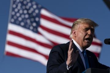 ▲도널드 트럼프 미국 대통령이 18일(현지시간) 네바다주 카슨시티 공항에서 열린 대선 유세에서 연설을 하고 있다. 카슨시티/AP연합뉴스