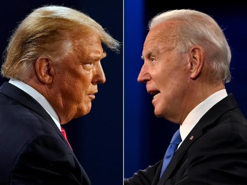 ▲도널드 트럼프 미국 대통령과 조 바이든 민주당 대선후보. AFP연합뉴스