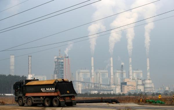 ▲충남 태안군 석탄가스화복합화력발전소 일대. (뉴시스)