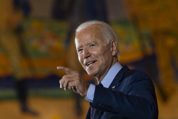 ▲조 바이든 미국 민주당 대선 후보가 12일(현지시간) 신시내티 중앙 박물관에서 연설을 하고 있다. 신시내티/AP뉴시스