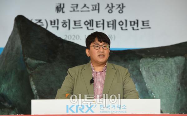 ▲방시혁 빅히트엔터테인먼트 대표 (사진공동취재단)