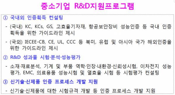 ▲중소기업 R&D 지원프로그램 (기정원 제공)