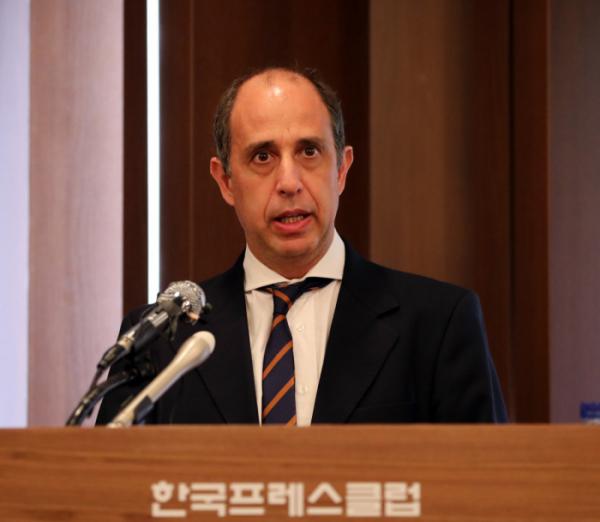 ▲토마스 오헤아 킨타나 UN 북한인권 특별보고관.  (뉴시스)