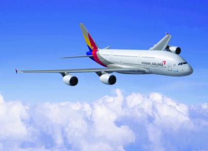 ▲아시아나항공 A380.  (사진제공=아시아나항공)