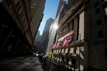 ▲11월 9일(현지시간) 미국 뉴욕증권거래소(NYSE)에 미국 국기가 걸려 있다. 뉴욕/로이터연합뉴스