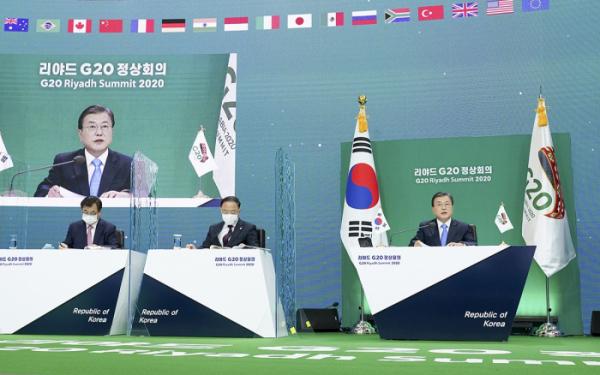 ▲G20 정상회의 참석한 문재인 대통령 (청와대 제공)