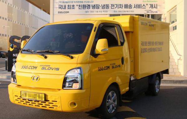 ▲현대글로비스-SSG닷컴이 사용할 친환경 콜드체인 전기차  (사진제공=현대글로비스)