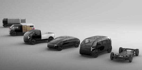 ▲하나의 전기차 플랫폼을 개발하면 이를 바탕으로 다양한 자동차를 개발할 수 있다. 개발비용이 적게들고 부품 원가를 낮출 수 있는 방법이기도 하다.  (출처=canoo)