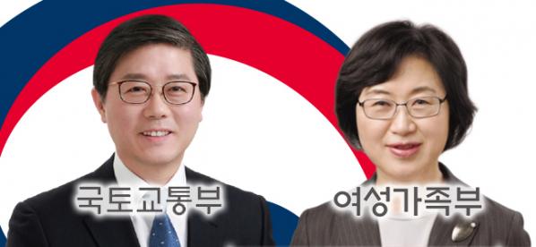 ▲변창흠 국토교통부 장관 후보자(사진 왼쪽), 정영애 여성가족부 장관 후보자 (사진제공=청와대)