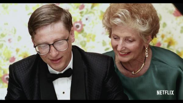 ▲젊은 시절 빌게이츠와 어머니 모습 (출처=넷플릭스 유튜브 캡처)