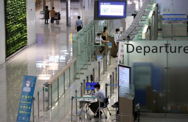 ▲인천국제공항 제1여객터미널 출국장. (뉴시스)