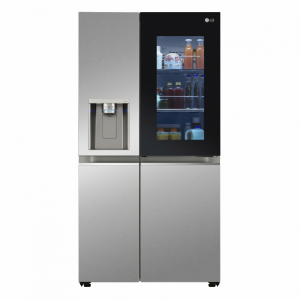 ▲LG전자가 미국 현지시간 CES 2021 전시회에서 디자인과 위생을 강화한 LG 인스타뷰(LG InstaView, 국내명: 노크온 매직스페이스) 냉장고 신제품을 공개했다. LG 인스타뷰 냉장고의 제품 사진 (사진제공=LG전자)