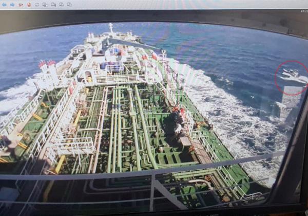 ▲한국케미가 공해상에서 나포 후 이란항으로 향하는 장면이 CCTV에 찍힌 모습. (연합뉴스)