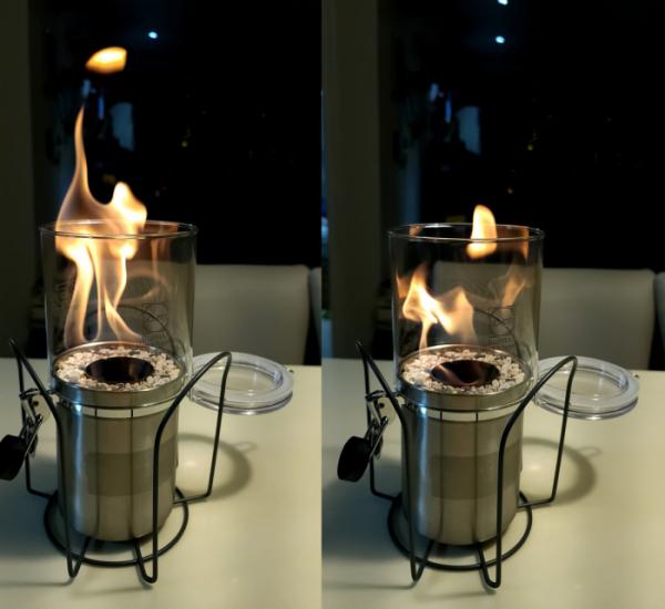 ▲회사원 김용재 씨가 만든 직접 만든 에탄올 난로. 그는 방송에서 에탄올 난로를 사용하며 '불멍'하는 것을 보고 흥미가 생겨 직접 솜씨를 발휘했다. (사진제공=김용재)