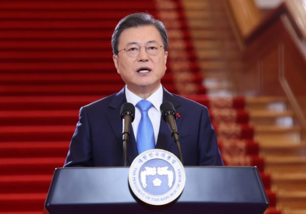 ▲문재인 대통령이 11일 청와대에서 신년사를 하고 있다. (연합뉴스)