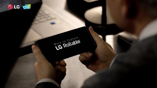 ▲LG전자 새 스마트폰 '롤러블폰'의 티저 영상 (사진제공=LG전자)