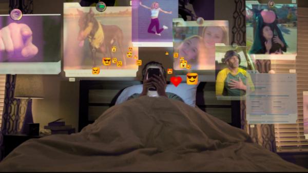 ▲다큐멘터리는 작품 중간중간 드라마 형식을 빌려 소셜 미디어가 어떻게 사용자를 중독시키고, 그의 삶을 나쁜 방향으로 이끄는지 보여준다.  (출처=넷플릭스)