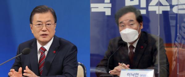 ▲문재인 대통령과 이낙연 더불어민주당 대표. (연합뉴스)