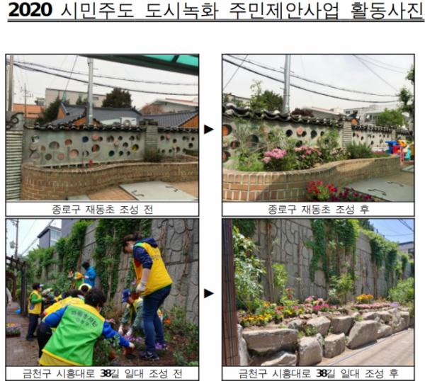 ▲2020 시민주도 도시녹화 활동사진. (사진제공=서울시)
