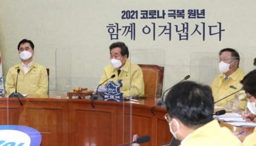 ▲이낙연 더불어민주당 대표가 22일 오전 서울 여의도 국회에서 열린 최고위원회의에서 발언하고 있다. (연합뉴스)