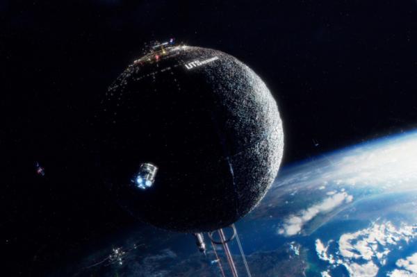 ▲작품 속 민간 우주 기업 UTS 창업자 제임스 설리반은 인공 행성 UTS에 이어 화성을 제2의 지구로 만들고자 한다. (출처=넷플릭스)
