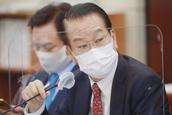 ▲권영세 국민의힘 의원이 지난해 10월 22일 서울 여의도 국회에서 열린 행정안전위원회 국정감사에서 질의를 하고 있다. (국회사진취재단)