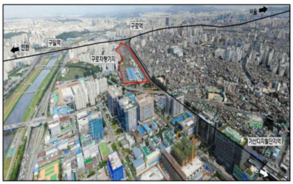 ▲서울 구로구 구로동 구로철도차량사업소 전경. (출처=정책정보포털.)