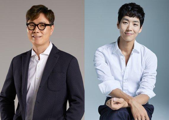 ▲오디오 도슨트로 참여한 소설가 김영하(좌)와 뮤지컬 배우 카이(우). (사진=빛의 벙커)